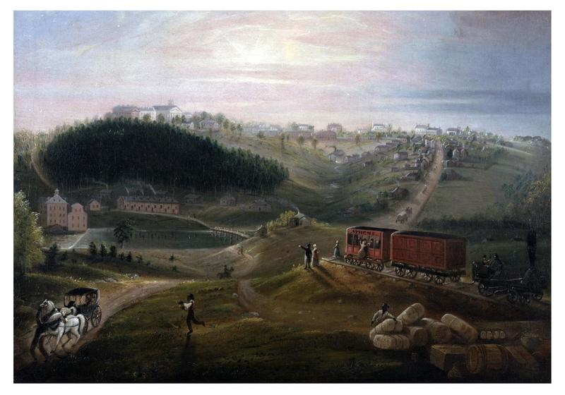 Painting: View of Athens from Carrs Hill