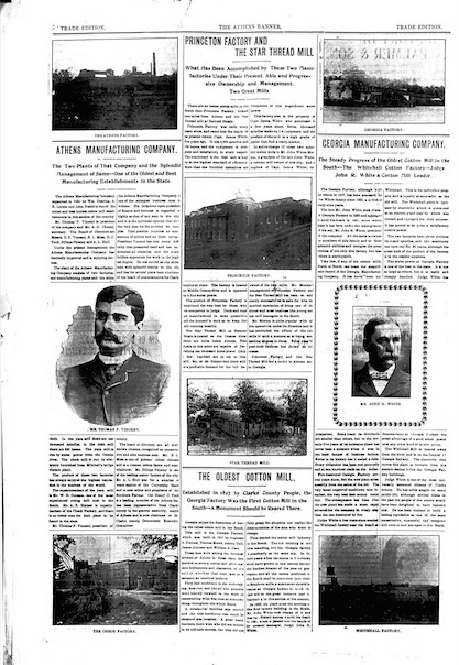 Athens Banner Herald Factories 1902