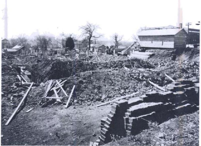 Baldwin Hall Construction Photo EPA 1930s