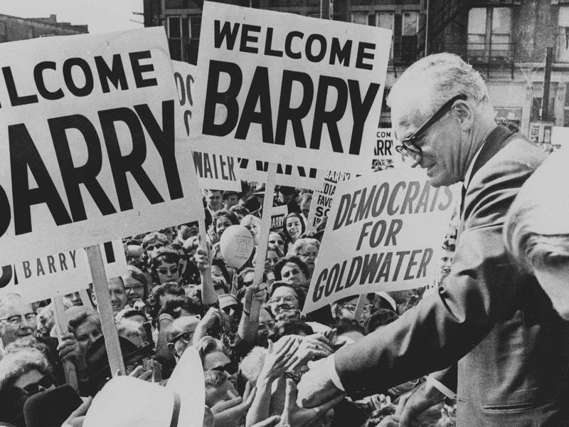 Barry Goldwater on the campaign trail.