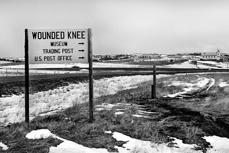 Entering the hamlet of Wounded Knee