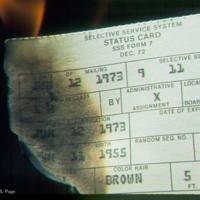 Burning draft card