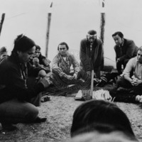 Photo taken during the AIM takeover and ultimate surrender at Wounded Knee, South Dakota.