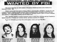Members of the Weather Underground pictured on the FBI's Most Wanted list