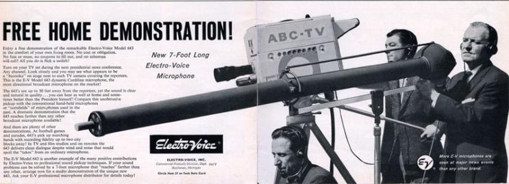 Electro-Voice 643 Advertisement