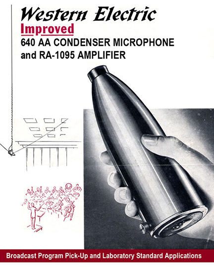 Western Electric 640AA + RA-1095 Amplifier Advertisement