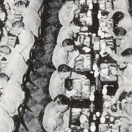 U.S. Navy Cadets Eating