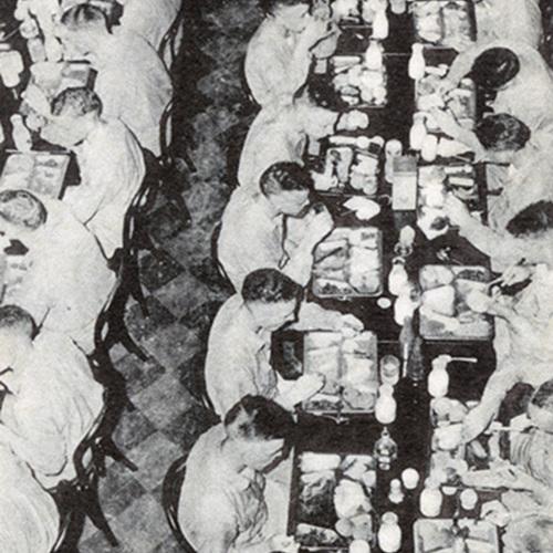 U.S. Navy Cadets Eating